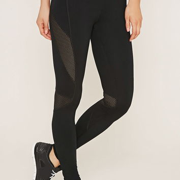 Active Mesh-Paneled Leggings | Forever 21 - 2000152420