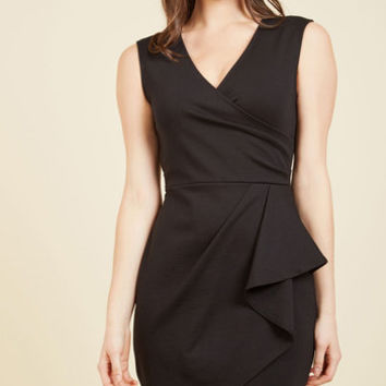 Public Speaking Highly of You Sheath Dress in Black | Mod Retro Vintage Dresses | ModCloth.com