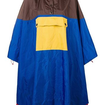 Multi-Color Block Cape by Marni