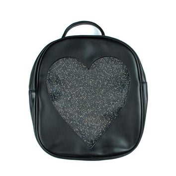 GLITTER HEART WINDOW BACKPACK from MAGIC PERIOD