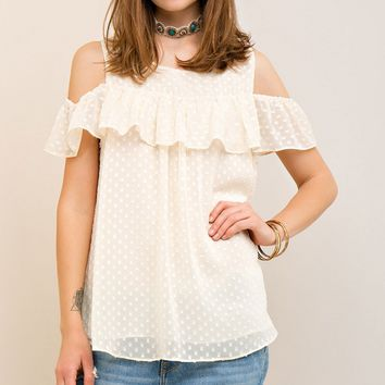 Dotted Ruffle Top