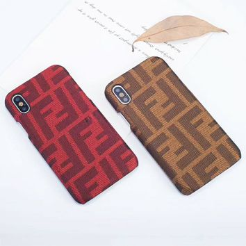 Fendi Fashion New More Letter Print Phone Case Couple Personality Protective Case