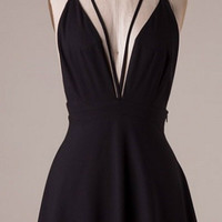 Elegant Evening Dress - Black