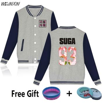 KPOP BTS Bangtan Boys Army WEJNXIN Autumn Winter   Hoodies Women  Boys Fleece Sweatshirt For Love Album Pink Jacket Coat Women Sudaderas AT_89_10