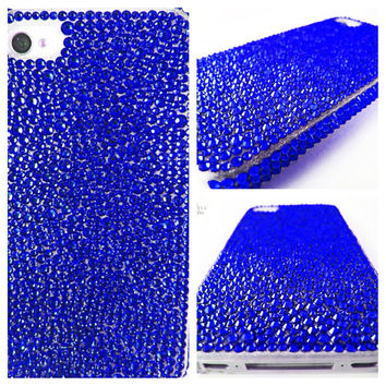 Swarovski Crystal Blue Purple Green Bling Cell Phone Case for iPhone 5/5S, iPhone 4/4S, iPod Touch 5th, Samsung Galaxy S4/S3/Note