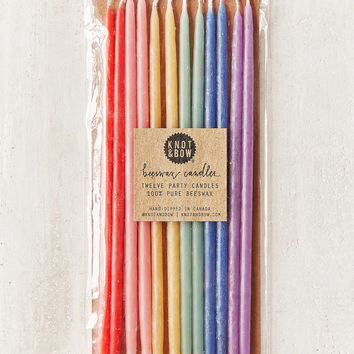 Knot & Bow Rainbow Beeswax Tall Party Candle Set | Urban Outfitters