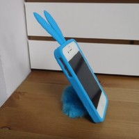 Bunny Rabito Silicone Case for Iphone 4 (Turquoise)