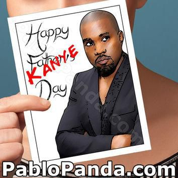 Kanye Card | Fathers Day Card | Funny Dad Card Kanye West Funny Greeting Card Kim Kar