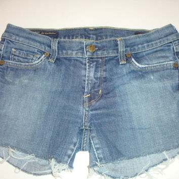 CITIZENS of Humanity JEANS frayed raw hem women denim shorts Size 29 cut offs Collete