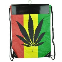 Marijuana Ganja Rasta Cannabis Weed Leaf Sling Bag Backpack Rastafari Blunt