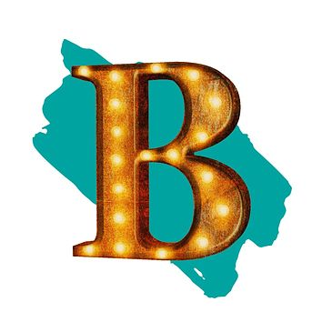 "24"" Letter B Lighted Vintage Marquee Letters (Rustic)"
