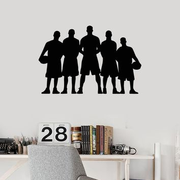 Vinyl Wall Decal Basketball Team Silhouette Sports Teen Room Art Stickers Mural (ig5408)