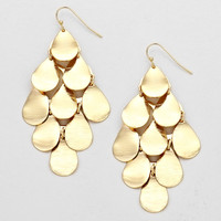 Chandelier Raindrop Earrings Gold