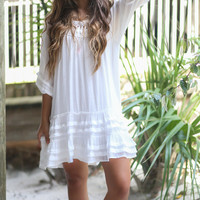 Off The Coast White Flare Bottom Dress