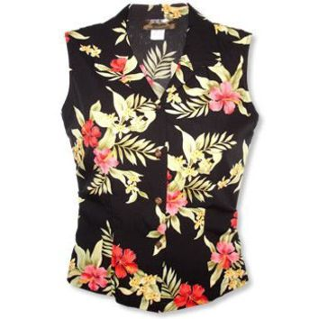 blacksand hawaiian sleeveless blouse