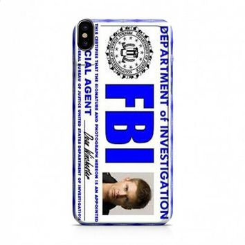 Dean Winchester FBI Supernatural iPhone X case