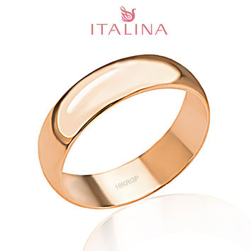 2016 New Italina brand 3 - 12.5 full size 18K rose Gold plated jewelry Children Anel Masculino Men & Women engagement rings