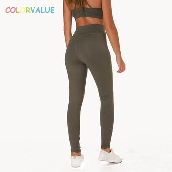 Colorvalue Stereoscopic Patchwork Fitness Yoga Leggings Women Mention Hip Dance Athletic Leggings High Stretchy Workout Tights