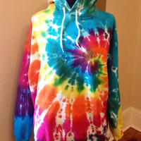 Tie-dye Hoodie, Hooded Sweatshirt, Hippie Clothes