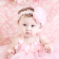 Gorgeous Beautiful Pink Petal Flower Baby Girl Tutu Dress 6-12 Months
