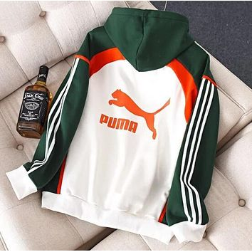 PUMA Autumn Winter New Popular Casual Color Matching Long Sleeve Hoodie Sweater Pullover Top Sweatshirt