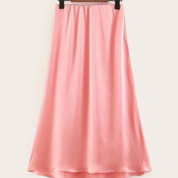High Low Flared Skirt