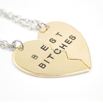 Best Bitches Heart Pendant