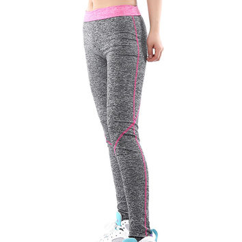 Patchwork Elastic High Waist Yoga Sport 9/10 Leggings