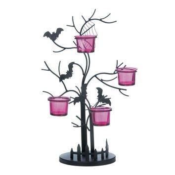 Eerie Bat Candle Holder