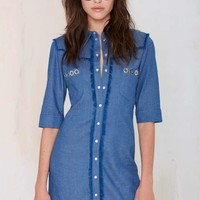 American Retro Cassidy Chambray Dress