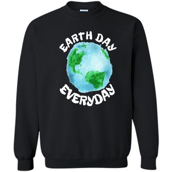 Earth Day Shirt Everyday Conservation Plant Nature Lover Tee Printed Crewneck Pullover Sweatshirt 8 oz