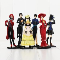 Kuroshitsuji Black Butler 6 Piece Action Figure Set