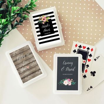 Personalized Floral Garden Playing Cards (Set of 24)