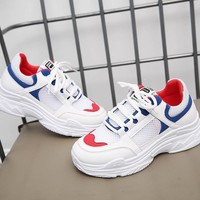 Platform Sneakers Shoes Woman 2018 Summer Autumn Woman Casual Shoes Breathable Female Sneakers Woman Mesh Shoes