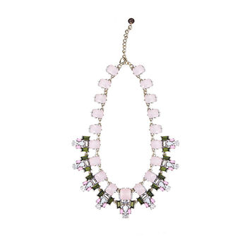 Q2 STORE Pink crystal stone necklace