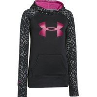 Under Armour Girls' Armour Fleece Storm Printed Big Logo Hoodie - Dick's Sporting Goods