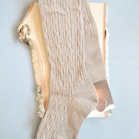 Over The Knee Boot Socks Taupe