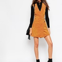 ASOS TALL Suede Dress With Metal Detail