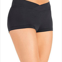 So Danca D257 Adult V-Cut Waistband Booty Shorts