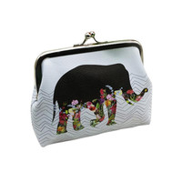 Owl Elephant Pattern Female Wallet