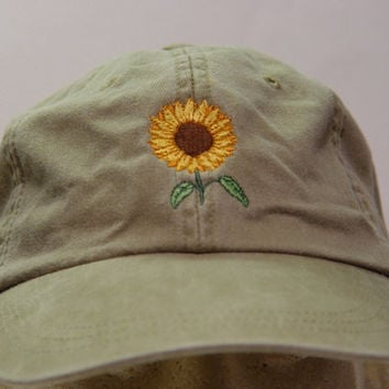 SUNFLOWER Hat - Embroidered Women Fall Garden Cap - 24 Colors Available - Price Apparel Embroidery