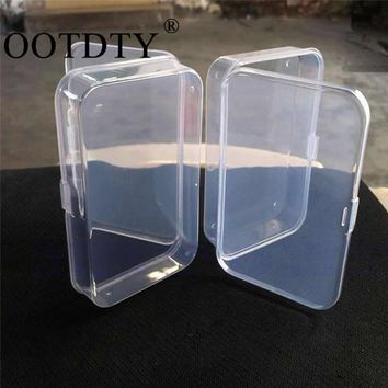 2Pcs Clear Plastic Transparent With Lid Storage Box Collection Container Case