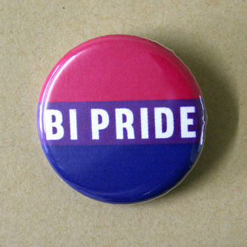 Bi Bisexual Pride Flag Pinback Button Badge