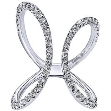 "Gabriel Contemporary ""Kaslique"" Diamond Right Hand Ring"