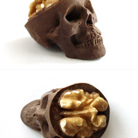 Chocolate Skulls Gone Nuts by sparganum on Etsy