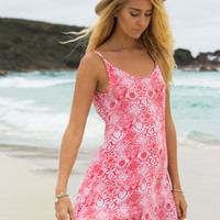 Krui Beach Dress - Coral