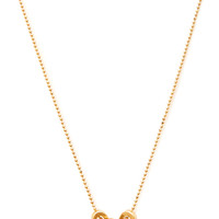 FOREVER 21 Heart Charm Necklace Gold One