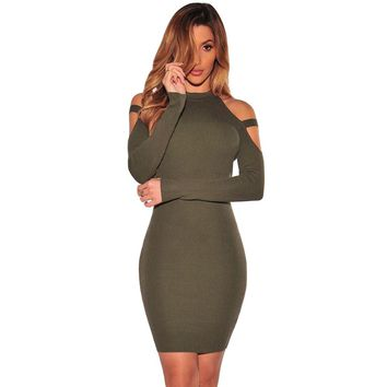Valentina cold shoulder dress
