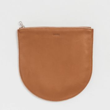 Large Leather Pocket Pouch Saddle