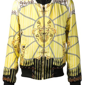 Versace Collection Print Bomber Jacket